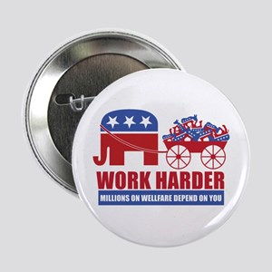 "Work Harder 2.25"" Button"
